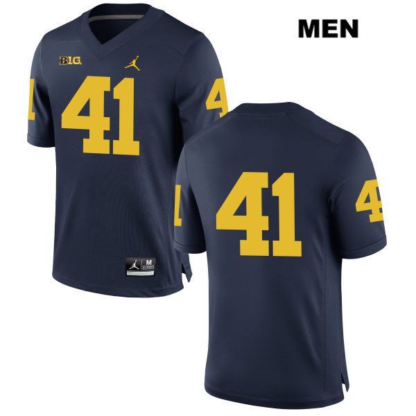 Stitched Michigan Wolverines Adam Fakih Mens Jordan no. 41 Navy Authentic College Football Jersey - No Name - Adam Fakih Jersey