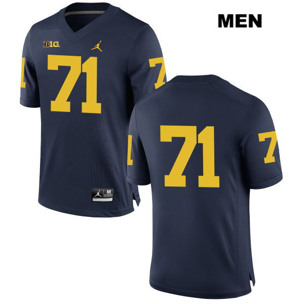 Stitched Michigan Wolverines Andrew Stueber Mens no. 71 Jordan Navy Authentic College Football Jersey - No Name - Andrew Stueber Jersey