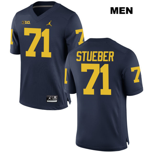 Michigan Wolverines Andrew Stueber Mens Jordan Stitched no. 71 Navy Authentic College Football Jersey - Andrew Stueber Jersey