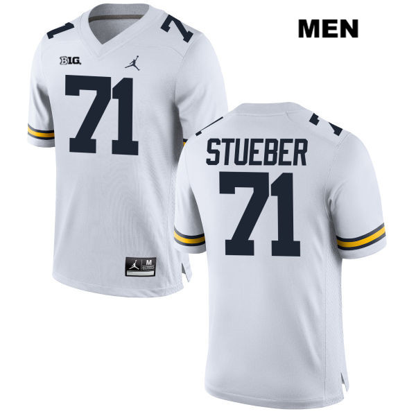 Michigan Wolverines Andrew Stueber Mens Jordan no. 71 White Stitched Authentic College Football Jersey - Andrew Stueber Jersey