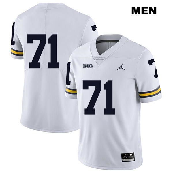 Jordan Michigan Wolverines Legend Andrew Stueber Stitched Mens no. 71 White Authentic College Football Jersey - No Name - Andrew Stueber Jersey