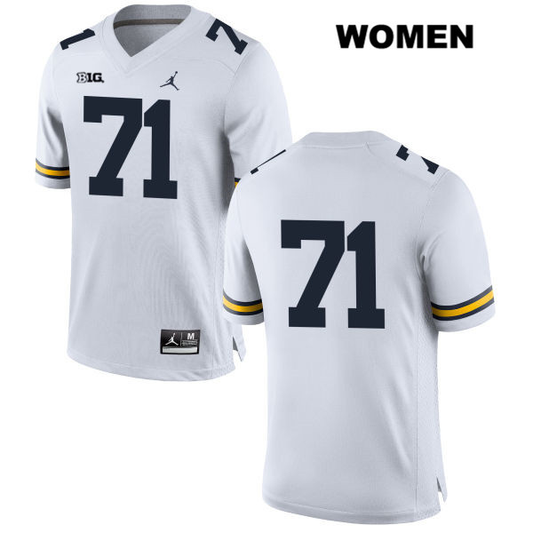 Michigan Wolverines Andrew Stueber Womens no. 71 Jordan Stitched White Authentic College Football Jersey - No Name - Andrew Stueber Jersey