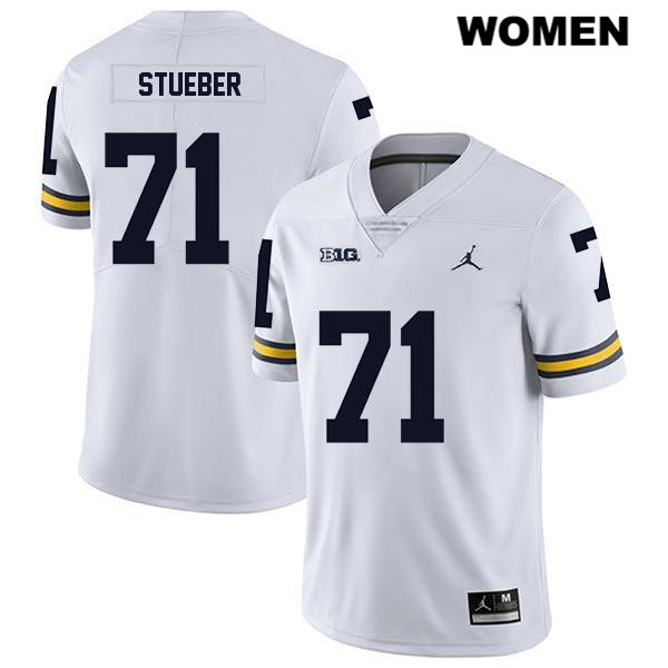 Jordan Michigan Wolverines Andrew Stueber Womens no. 71 Legend Stitched White Authentic College Football Jersey - Andrew Stueber Jersey