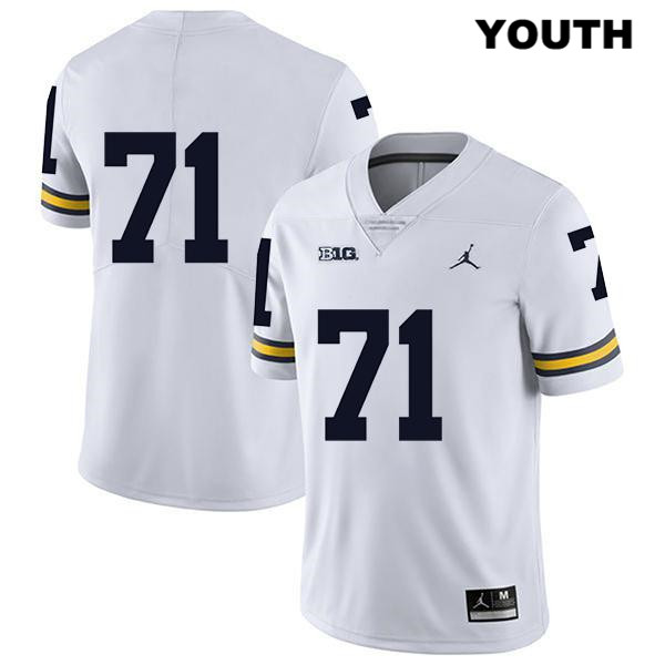 Michigan Wolverines Stitched Legend Andrew Stueber Jordan Youth no. 71 White Authentic College Football Jersey - No Name - Andrew Stueber Jersey