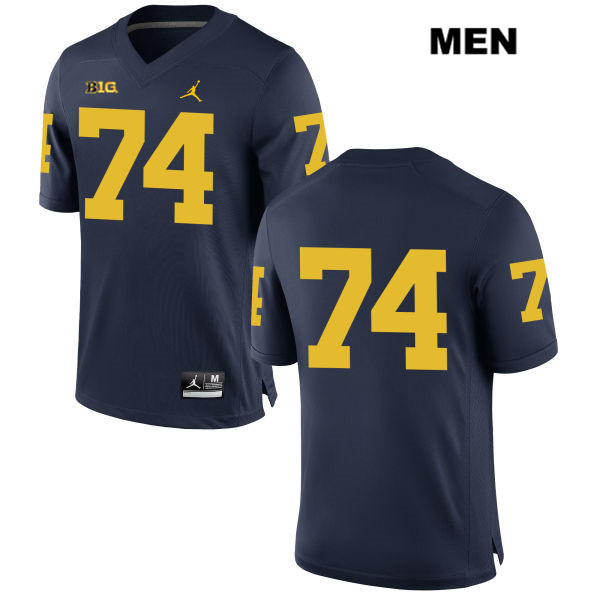 Michigan Wolverines Jordan Ben Bredeson Mens no. 74 Stitched Navy Authentic College Football Jersey - No Name - Ben Bredeson Jersey
