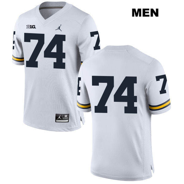 Michigan Wolverines Ben Bredeson Stitched Jordan Mens no. 74 White Authentic College Football Jersey - No Name - Ben Bredeson Jersey