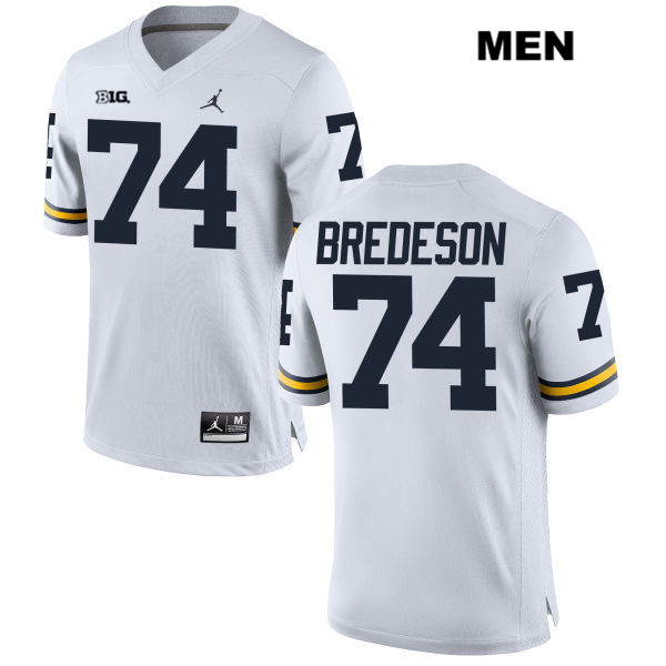 Michigan Wolverines Jordan Ben Bredeson Mens no. 74 White Stitched Authentic College Football Jersey - Ben Bredeson Jersey