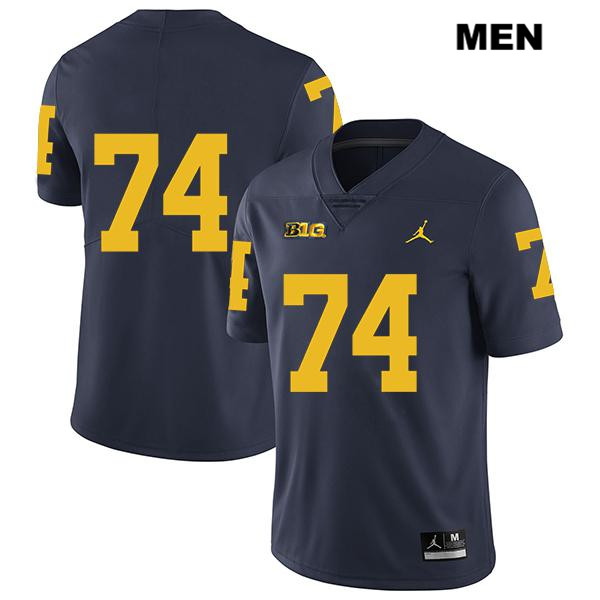 Michigan Wolverines Ben Bredeson Mens Stitched no. 74 Jordan Navy Legend Authentic College Football Jersey - No Name - Ben Bredeson Jersey
