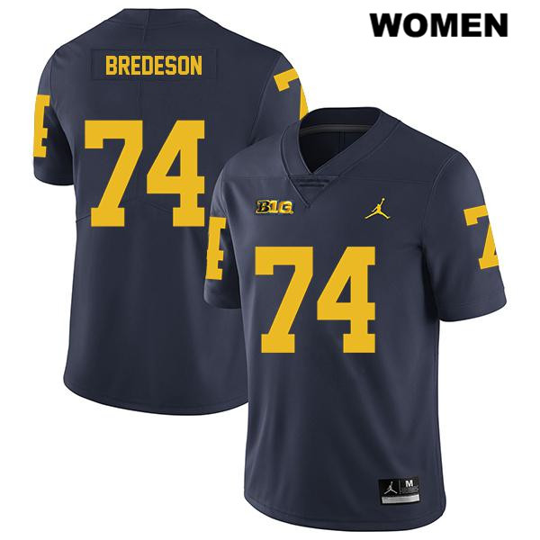Jordan Michigan Wolverines Ben Bredeson Legend Womens Stitched no. 74 Navy Authentic College Football Jersey - Ben Bredeson Jersey