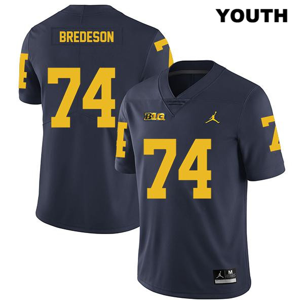 Legend Michigan Wolverines Ben Bredeson Youth Jordan Stitched no. 74 Navy Authentic College Football Jersey - Ben Bredeson Jersey