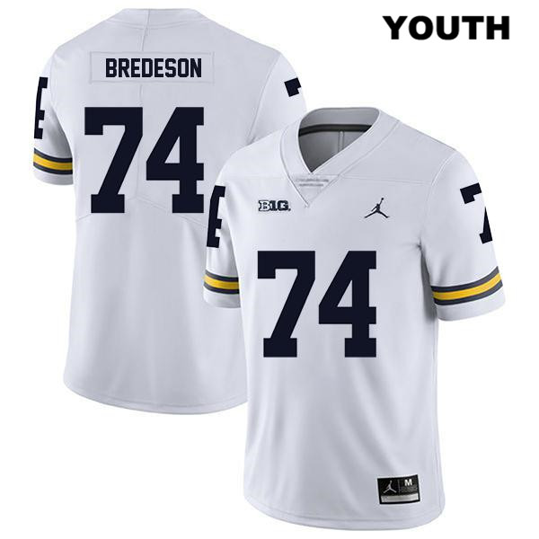 Michigan Wolverines Stitched Ben Bredeson Youth Jordan no. 74 White Legend Authentic College Football Jersey - Ben Bredeson Jersey