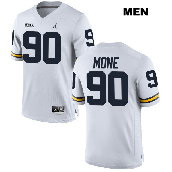 Michigan Wolverines Stitched Bryan Mone Mens no. 90 Jordan White Authentic College Football Jersey - Bryan Mone Jersey